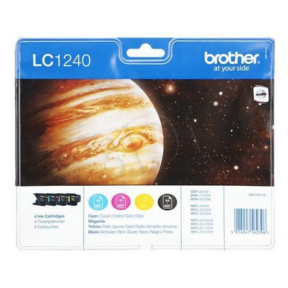 BROTHER Tusz LC1240VALBP=LC-1240VALBP, Zestaw CMYBk, LC1240C+LC1240M+LC1240Y+LC1240BK