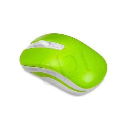 I-BOX Mysz bezprzewodowa optyczna Loriini Green 1600dpi zielono-biała