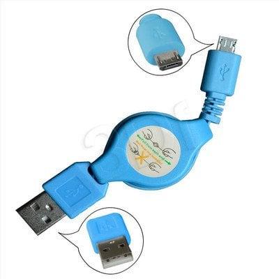 MSONIC KABEL MICRO USB 2.0 A-B M/M 0,7M, ROZWIJANY MLU529NB NIEBIESKI
