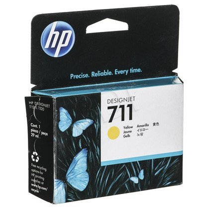 HP Tusz Żółty HP711=CZ132A, 29 ml