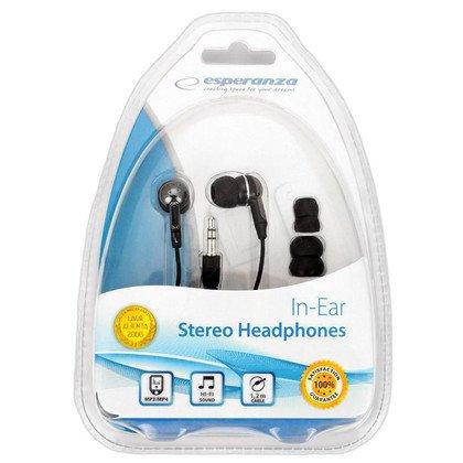 Słuchawki douszne Esperanza EH125 (Czarno - grafitowy)