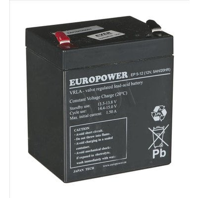 AKUMULATOR EVER DO UPS Europower 12V 5Ah T2