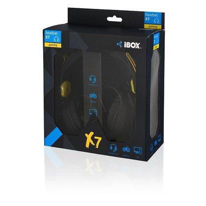 Słuchawki nauszne z mikrofonem Ibox X7 (Czarno-żółty)