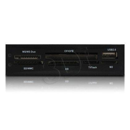 4WORLD CZYTNIK KART FLASH WEWNĘTRZNY 3.5'' 24W1 USB BLACK, WIN8