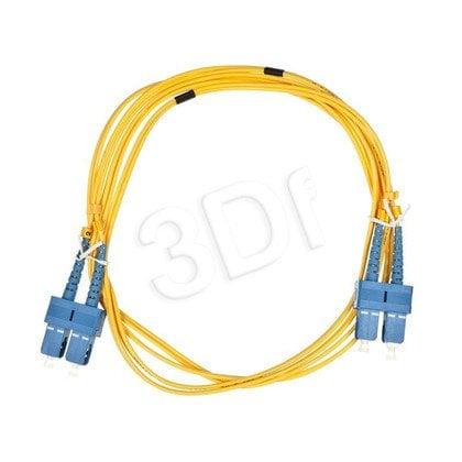 ALANTEC patchcord światłowodowy SM LSOH 2m SC-SC duplex 9/125 żółty