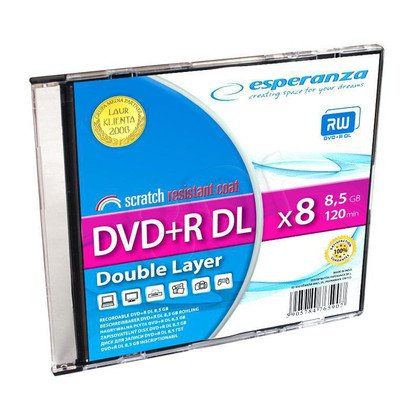 DVD+R ESPERANZA 8.5GB X8 DOUBLE LAYER SLIM 1SZT