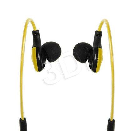Słuchawki douszne z mikrofonem I-Box S1 Sport (żółto-czarny)