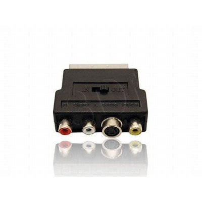 ADAPTER EURO->SVHS-3XRCA (CHINCH) (POJEDYNCZY)