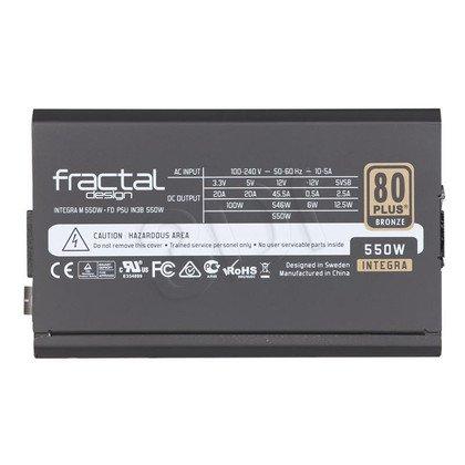 FRACTAL DESIGN INTEGRA M 550W MODULARNY 80+ BRONZE