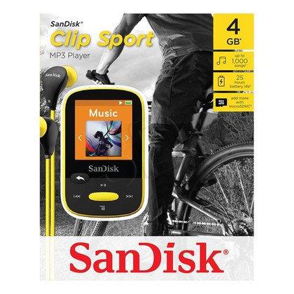 SANDISK MP3 SANSA CLIP SPORTS 4GB ŻÓŁTA