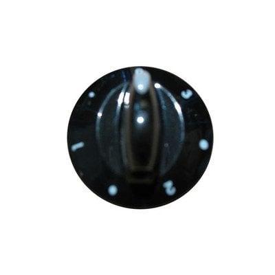 Pokrętło czarne płytki grzejnej elektrycznej 3 z prawej (E501-1173) (9005645)