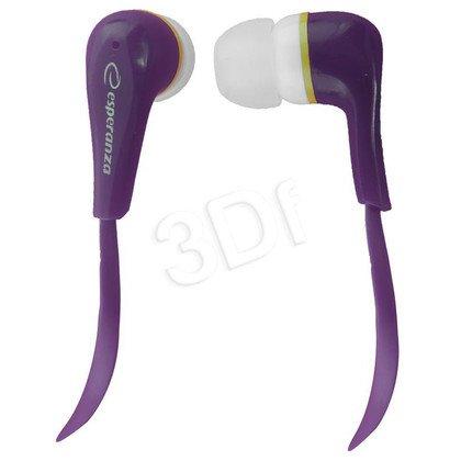 Słuchawki douszne Esperanza LOLLIPOP EH146V (Fioletowy)