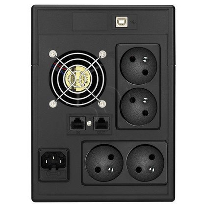 LESTAR UPS MCL-2000FFU 2000VA/1200W AVR LCD 4XFR USB RJ 45