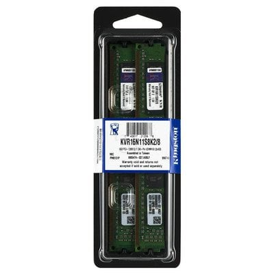 KINGSTON DDR3 2x4GB 1600MHz KVR16N11S8K2/8