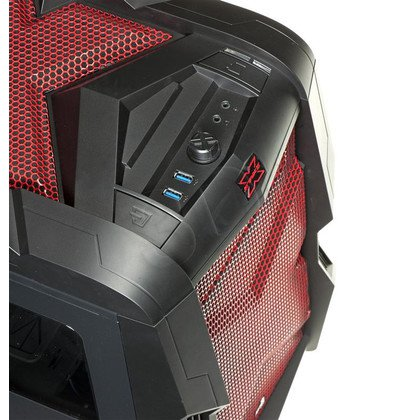 AEROCOOL STRIKE-X CUBE RED ITX/mATX USB3.0 CZERWONA