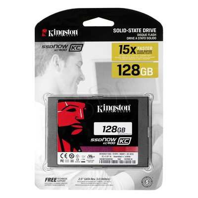 "Dysk SSD Kingston SKC400S37/128G 2,5"" 128GB SATA III"