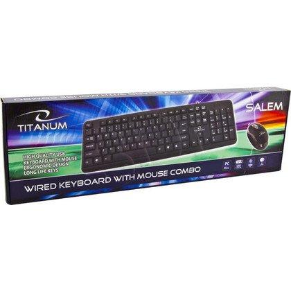 TITANUM PRZEWODOWA KLAWIATURA + MYSZ TK106 USB