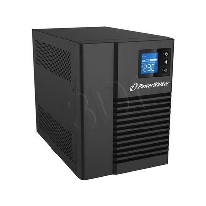 POWER WALKER UPS LINE-INTERACTIVE 750VA 4X 230V IEC OUT, RJ45 IN/OUT, USB HID, LCD, CZYSTA FALA