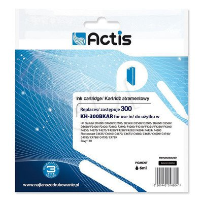 Actis KH-300BKAR tusz czarny do drukarki HP (zamiennik HP 300 CC640EE) Standard