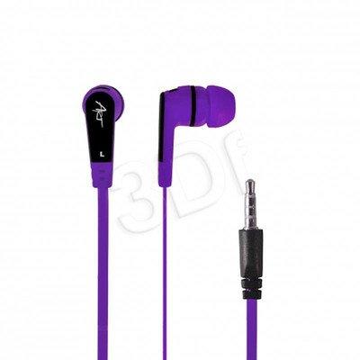 Słuchawki douszne z mikrofonem ART S2F (fioletowy)