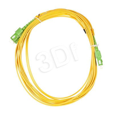 ALANTEC patchcord światłowodowy SM LSOH 5m SC/APC-SC/APC duplex 9/125 żółty