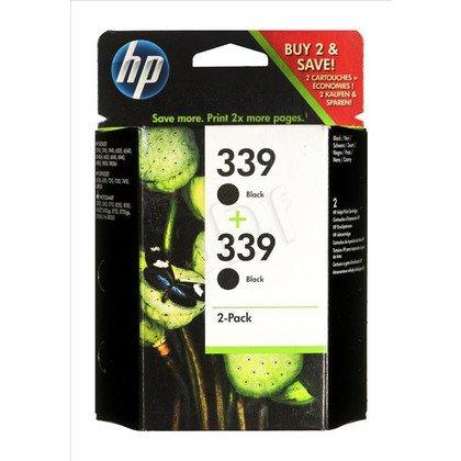 HP Tusz HP339x2=C9504EE, Zestaw 2xBk, 2xC8767EE