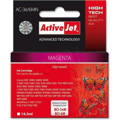 ActiveJet AC-3e/6MN (AC-3e/6M) tusz magenta do drukarki Canon (zamiennik BCI-3eM, BCI-6M)