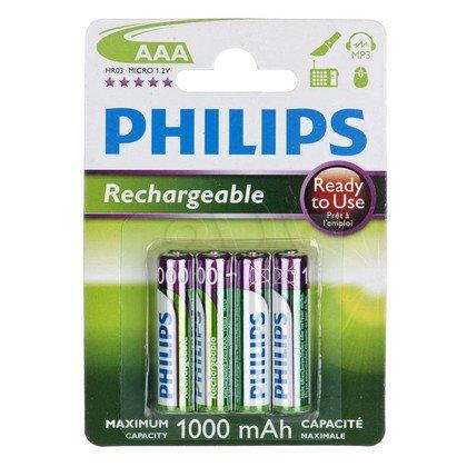 Akumulator Philips R03B4RTU10/10 AAA 1000mAh 4 szt.