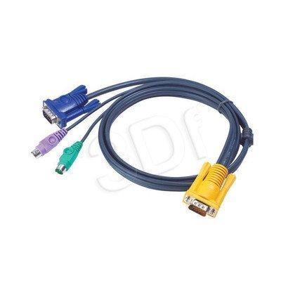 ATEN 2L-5203P Kabel HD15 - SVGA + myszPS + klawPS 3.0m