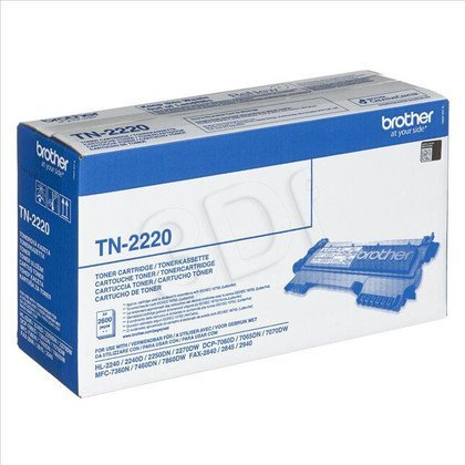 BROTHER Toner Czarny TN2220=TN-2220, 2600 str.