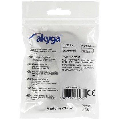 AKYGA HUB USB2.0 4-PORTOWY AK-AD-13