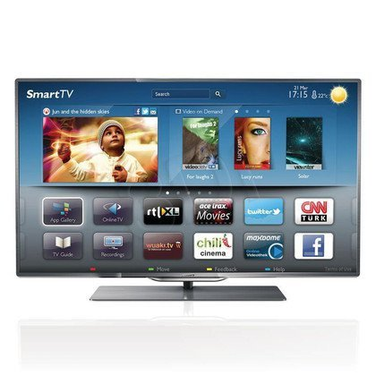 "TV 55"" LCD LED Philips 55PFL8007K/12 (Tuner Cyfrowy 800Hz Smart TV Tryb 3D USB LAN,WiFi)"