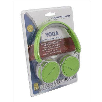 Słuchawki nauszne z mikrofonem Esperanza YOGA (Zielony Bluetooth)