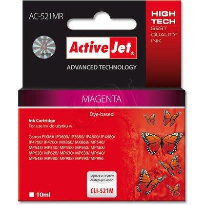 ActiveJet AC-521MR (ACR-521M) tusz magenta do drukarki Canon (zamiennik Canon CLI-521M) (chip)