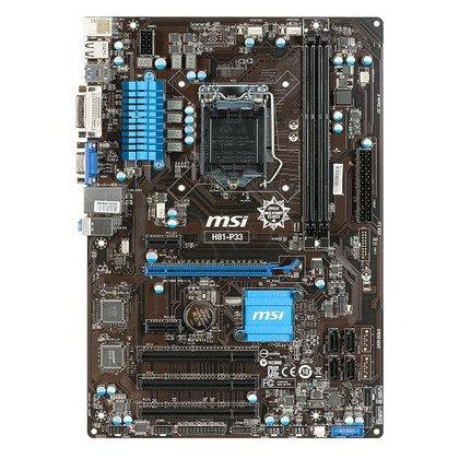 MSI H81-P33 H81 LGA1150 (PCX/DZW/VGA/GLAN/SATA3/USB3/DDR3)