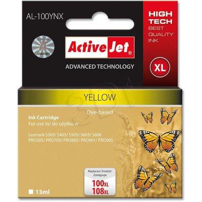 ActiveJet AL-100YNX (AL-100Y) tusz Yellow do drukarek Lexmark (zam.14N1071E nr100XL/108XL)