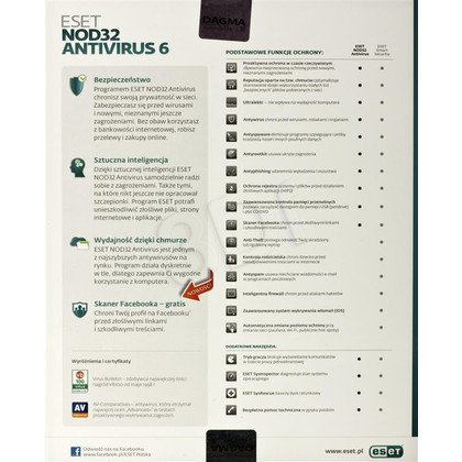 ESET NOD32 ANTIVIRUS BOX - 1 STAN/12M