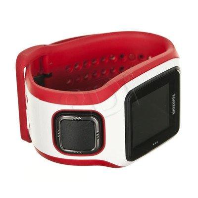 Tomtom Zegarek sportowy Runner Cardio biały/czerwony