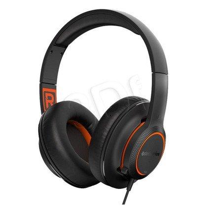 Słuchawki nauszne z mikrofonem Steelseries Siberia 100 (czarno-pomarańczowy)