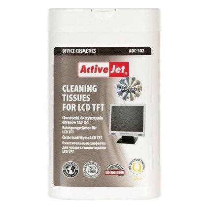 ActiveJet AOC-302 Chusteczki do matryc LCD/TFT 100szt