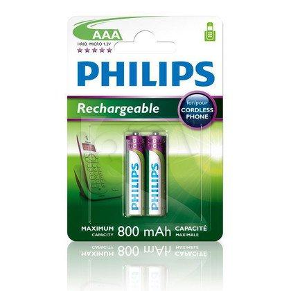 Akumulator Philips R03B2A80/10 AAA 800mAh 2 szt.