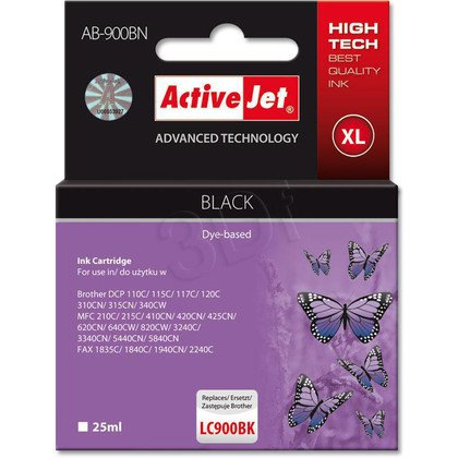 ActiveJet AB-900BN (AB-900Bk) tusz czarny do drukarki Brother (zamiennik LC900BK)