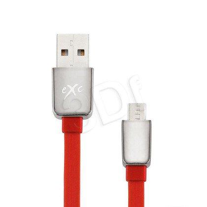 EXC UNIWERSALNY KABEL USB-MICRO USB, LINES, 2 METRY, CZERWONY
