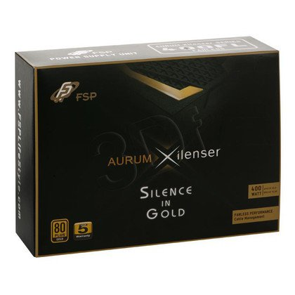 ZASILACZ FSP AURUM XILENSER 400 (400W) MODULARNY - 80+ GOLD - 0dB