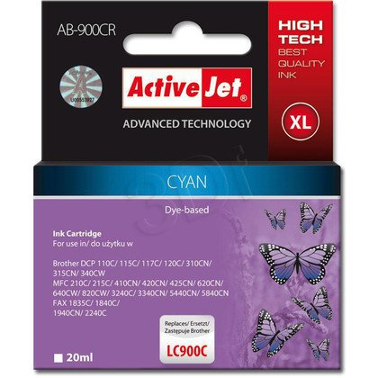 ActiveJet AB-900CR (ABR-900C) tusz cyan do drukarki Brother, ref. (zamiennik Brother LC900C)