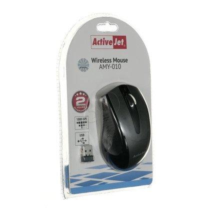 Activejet Mysz bezprzewodowa optyczna AMY-010 1000dpi czarno-szara