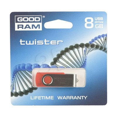 GOODDRIVE FLASHDRIVE 8192MB USB 2.0 TWISTER Red