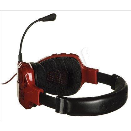Słuchawki wokółuszne z mikrofonem OZONE RAGE ST (Czerwono-czarne)