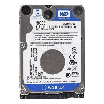"Dysk HDD Western Digital SCORPIO BLUE 2,5"" 500GB SATA III 8MB 5400obr/min WD5000LPCX"