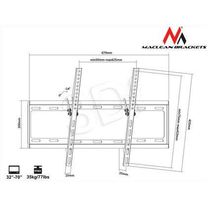"MACLEAN UCHWYT DO TELEWIZORA 32-70"" MC-605 MAX VESA 600X400 35KG TV"